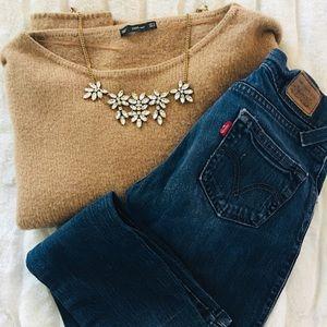 Zara Knit Oversized Camel Sweater